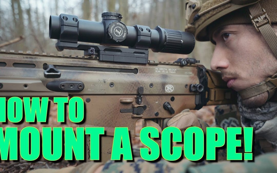 HOW TO PROPERLY MOUNT A RIFLE SCOPE w/ KDG SIDELOK MOUNTS!