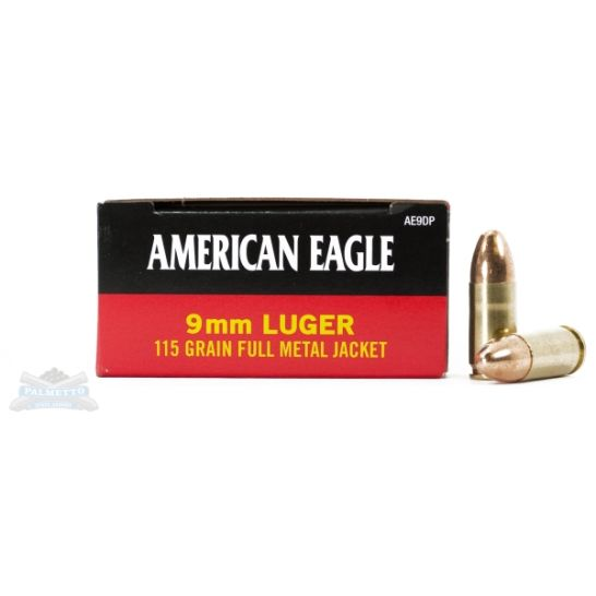 TGC GUN DEALS – American Eagle 115gr 9mm IN STOCK – $0.50/Rnd!